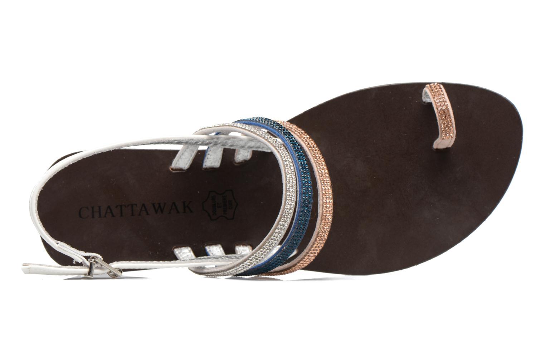 Sandales et nu-pieds Chattawak Nina Bleu vue gauche