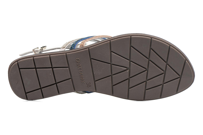 Sandales et nu-pieds Chattawak Nina Bleu vue haut