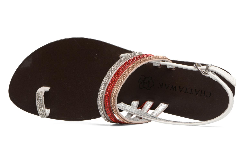 Sandali e scarpe aperte Chattawak Nina Rosso immagine sinistra