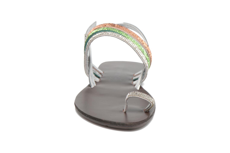 Sandales et nu-pieds Chattawak Nina Vert vue portées chaussures