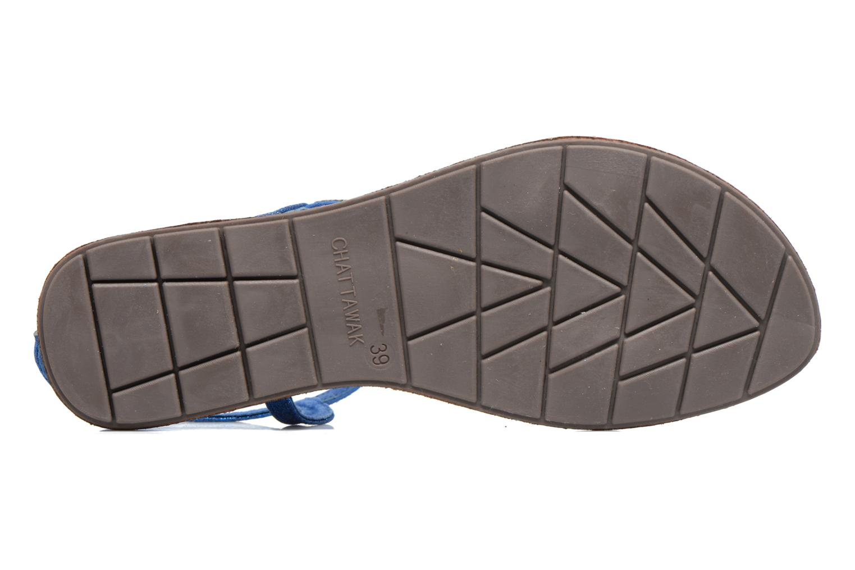 Sandalen Chattawak Nelly blau ansicht von oben