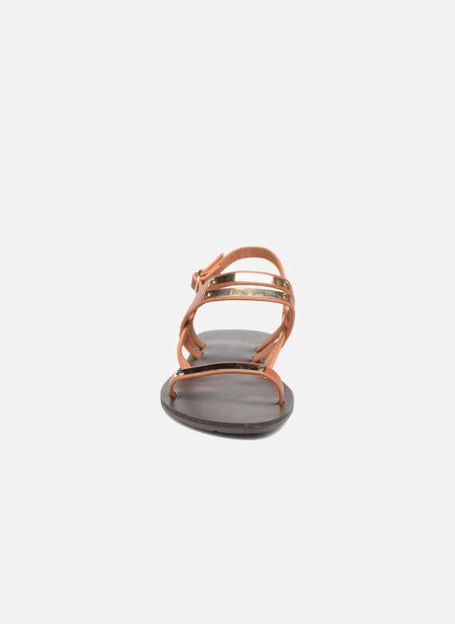 Sandales et nu-pieds Chattawak Lydie Marron vue portées chaussures