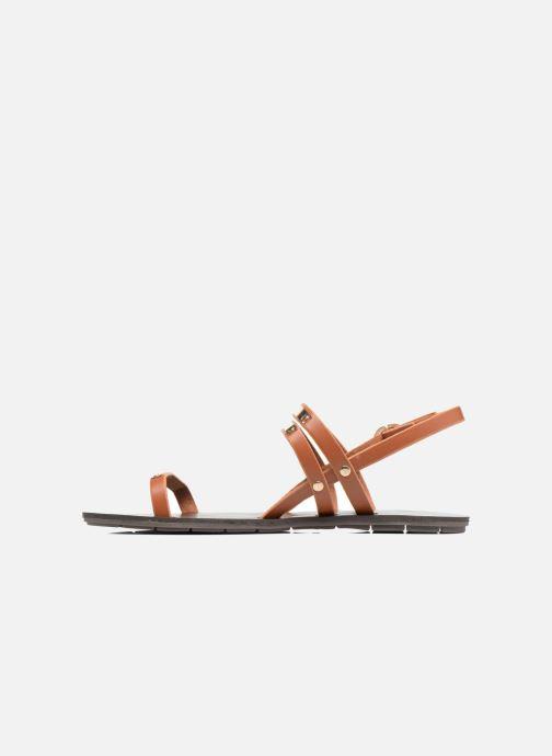 Sandales et nu-pieds Chattawak Lydie Marron vue face