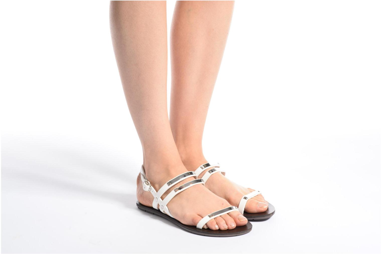 Sandales et nu-pieds Chattawak Lydie Marron vue bas / vue portée sac