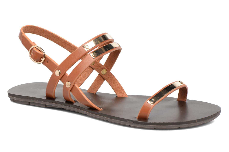 Sandales et nu-pieds Chattawak Lydie Marron vue détail/paire
