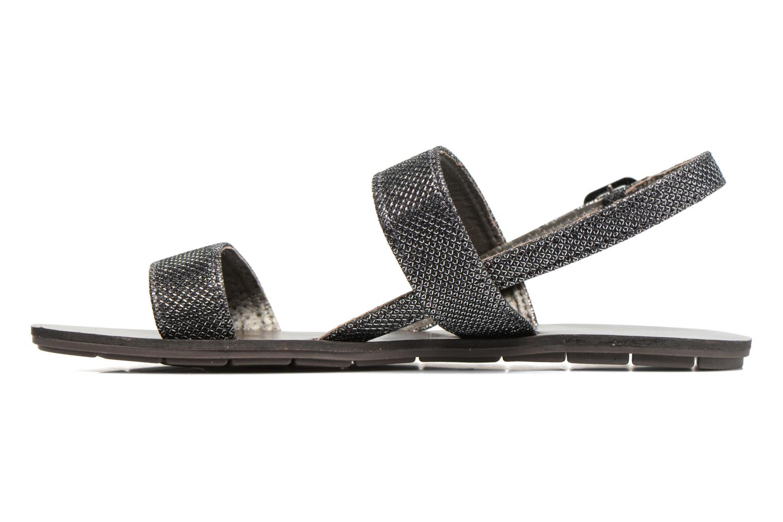 Sandales et nu-pieds Chattawak Nadine Gris vue face