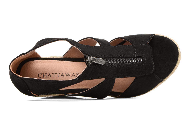 Sandalen Chattawak Debby schwarz ansicht von links