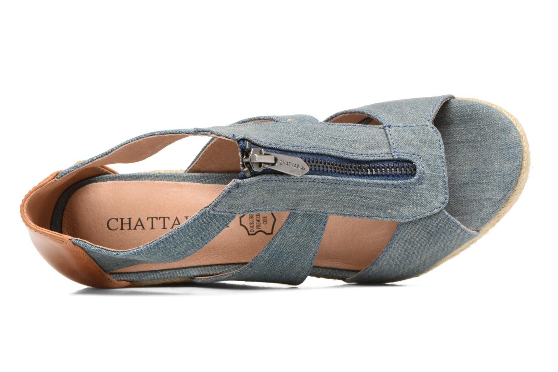 Sandalen Chattawak Debby Blauw links