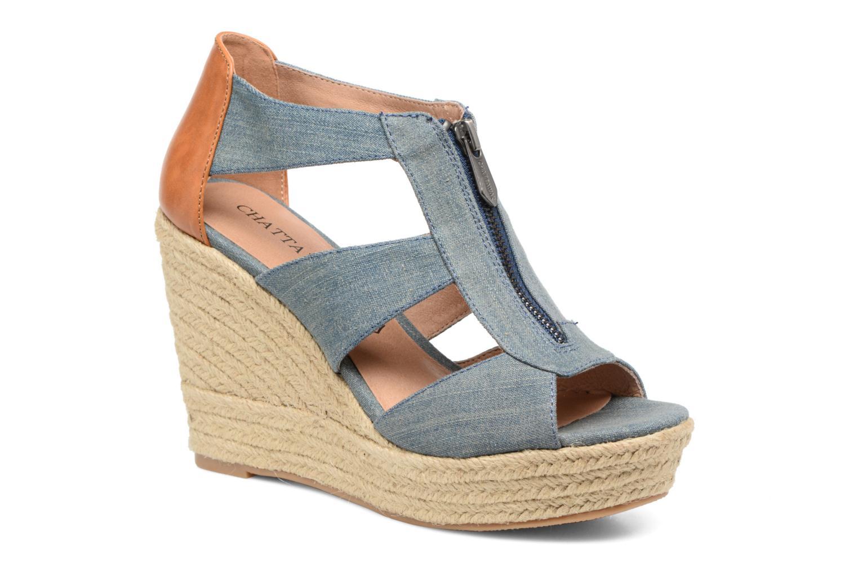 Sandalen Chattawak Debby Blauw detail