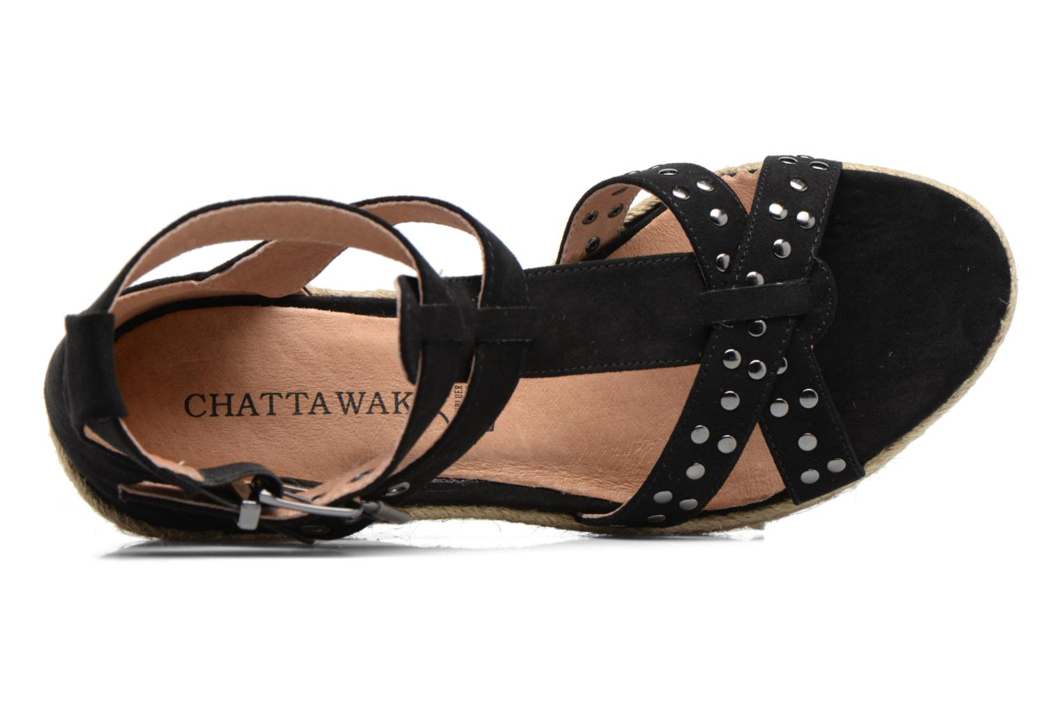 Espadrilles Chattawak Laura Black view from the left