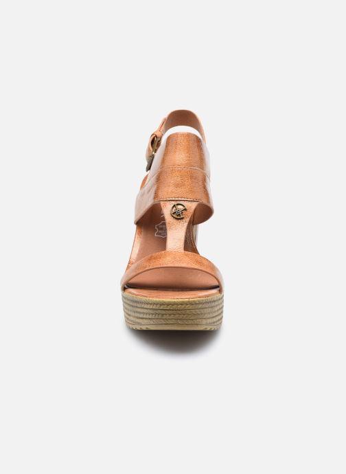 Sandales et nu-pieds Chattawak Hanna Marron vue portées chaussures