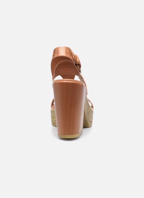 Sandales et nu-pieds Chattawak Hanna Marron vue droite