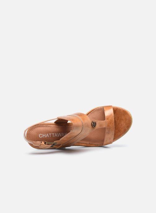 Sandales et nu-pieds Chattawak Hanna Marron vue gauche