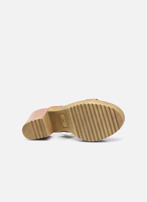 Sandales et nu-pieds Chattawak Hanna Marron vue haut