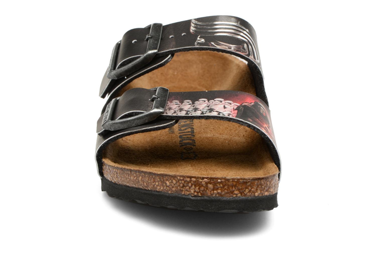 Sandalen Birkenstock Arizona  Birko Flor schwarz schuhe getragen