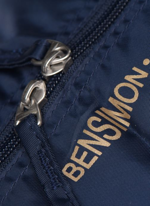 Luggage Bensimon Extra bag L Weekender pliable Blue view from the left
