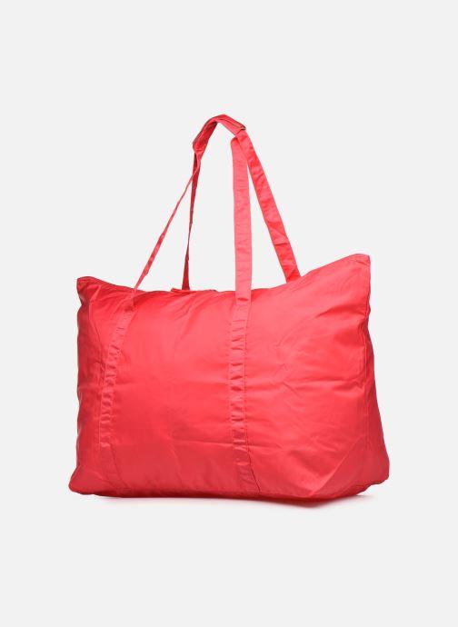 Bagages Bensimon Extra bag L Weekender pliable Rose vue portées chaussures