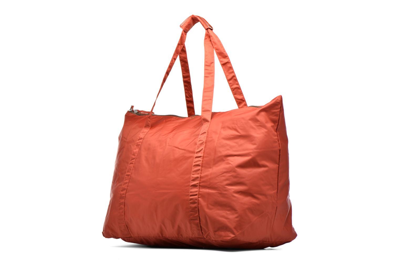 Bagages Bensimon Extra bag L Weekender pliable Marron vue portées chaussures