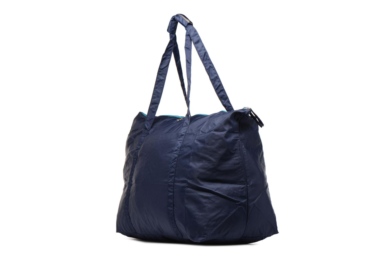 Bagages Bensimon Extra bag L Weekender pliable Bleu vue portées chaussures