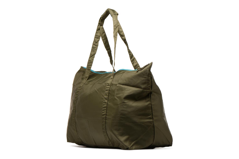 Bagages Bensimon Extra bag L Weekender pliable Vert vue portées chaussures
