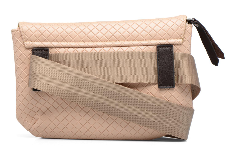 Handtassen Bensimon Fancy Canvas line Belt bag Roze voorkant
