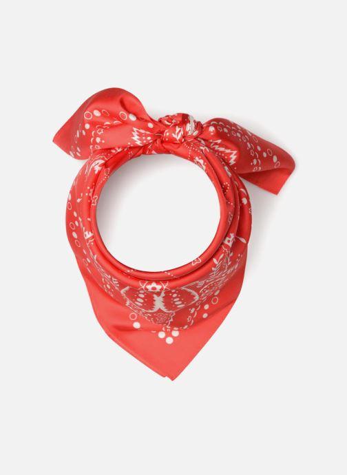 Halstørklæde og tørklæde Bensimon Foulard Bandana soie 80x80 Rød detaljeret billede af skoene