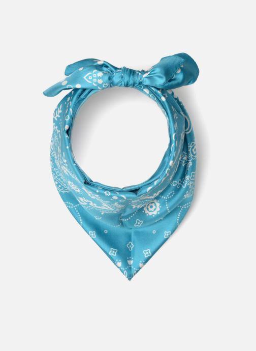 Echarpes et Foulards Bensimon Foulard Bandana soie 80x80 Bleu vue détail/paire