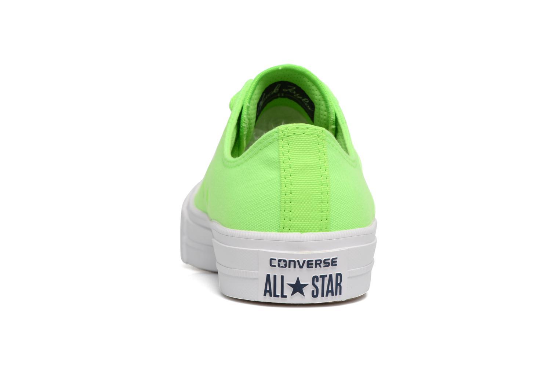 Deportivas Converse Chuck Taylor All Star II Ox Neon W Verde vista lateral derecha
