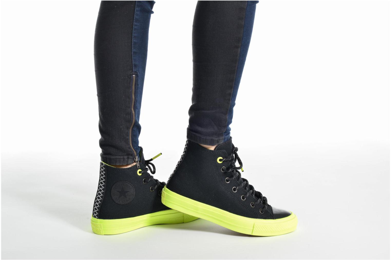 Trainers Converse Chuck Taylor All Star II Hi Shield Lycra W Blue view from underneath / model view
