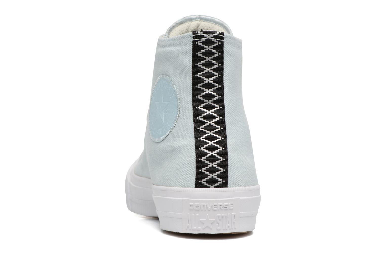 Sneakers Converse Chuck Taylor All Star II Hi Shield Lycra W Azzurro immagine destra