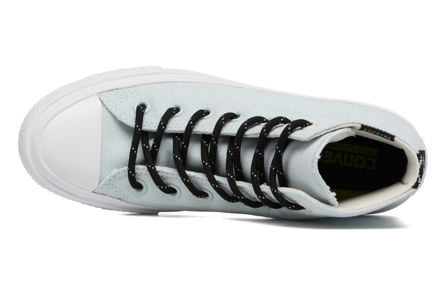 Trainers Converse Chuck Taylor All Star II Hi Shield Lycra W Blue view from the left