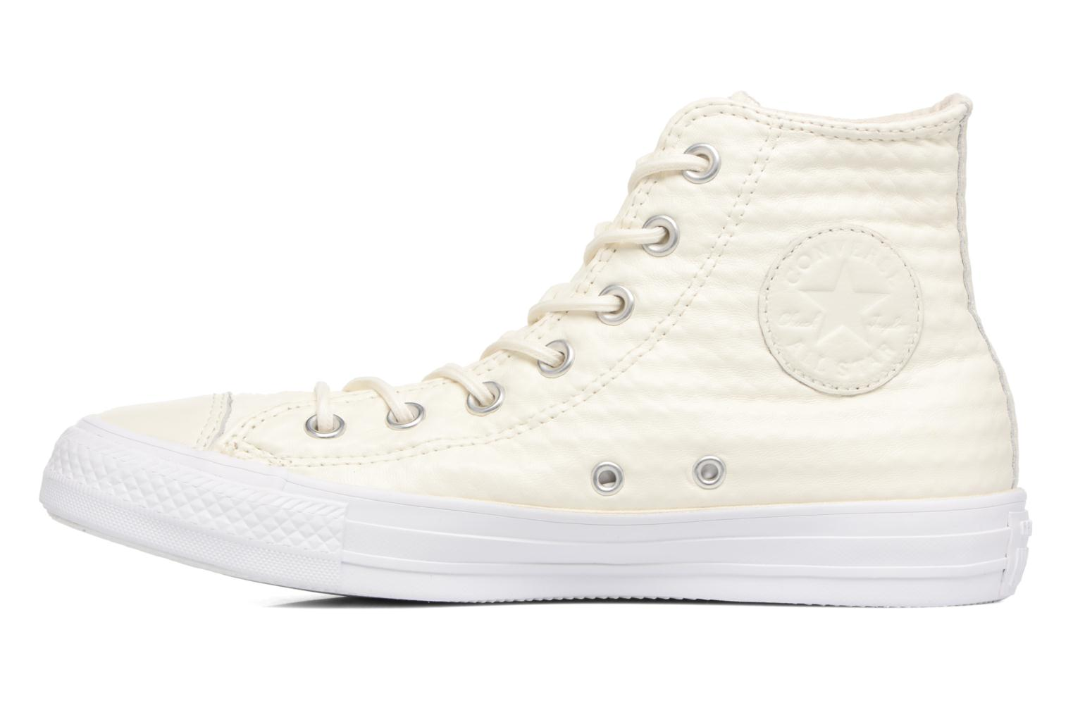 Sneaker Converse Chuck Taylor All Star Craft Leather Hi weiß ansicht von vorne