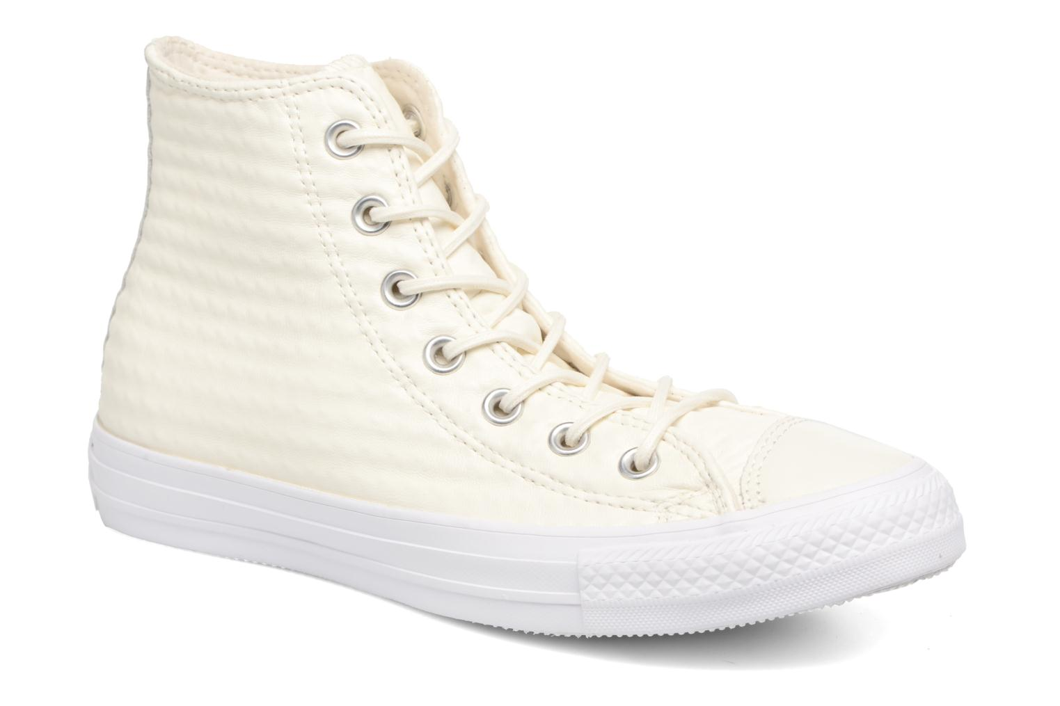 Sneaker Converse Chuck Taylor All Star Craft Leather Hi weiß detaillierte ansicht/modell
