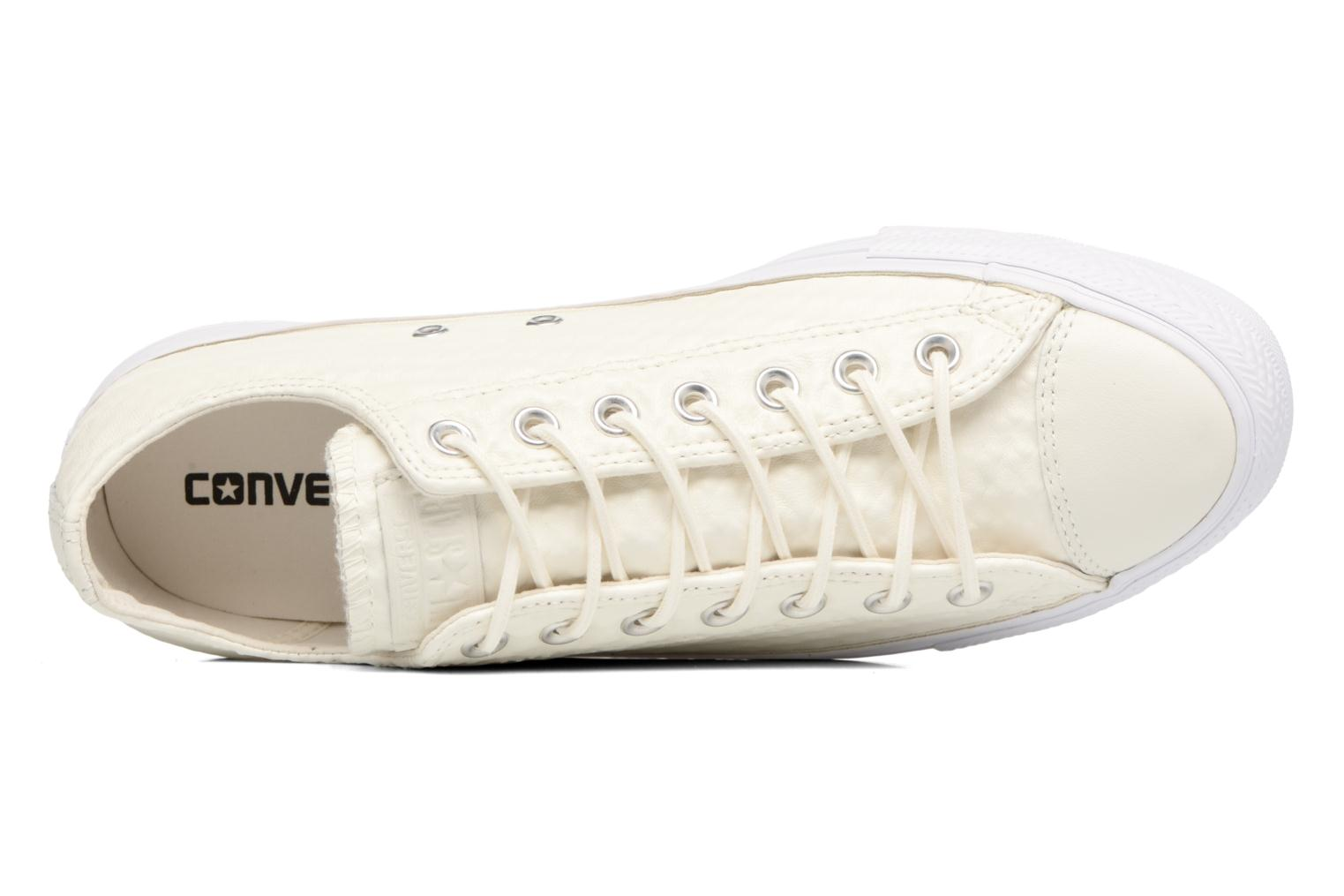 Baskets Converse Chuck Taylor All Star Craft Leather Ox M Blanc vue gauche