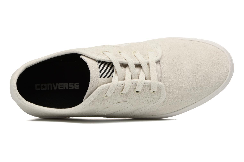 Baskets Converse Cons Zakim Suede Ox M Blanc vue gauche
