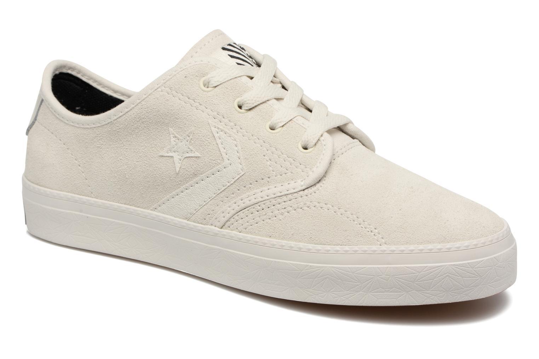 Baskets Converse Cons Zakim Suede Ox M Blanc vue détail/paire