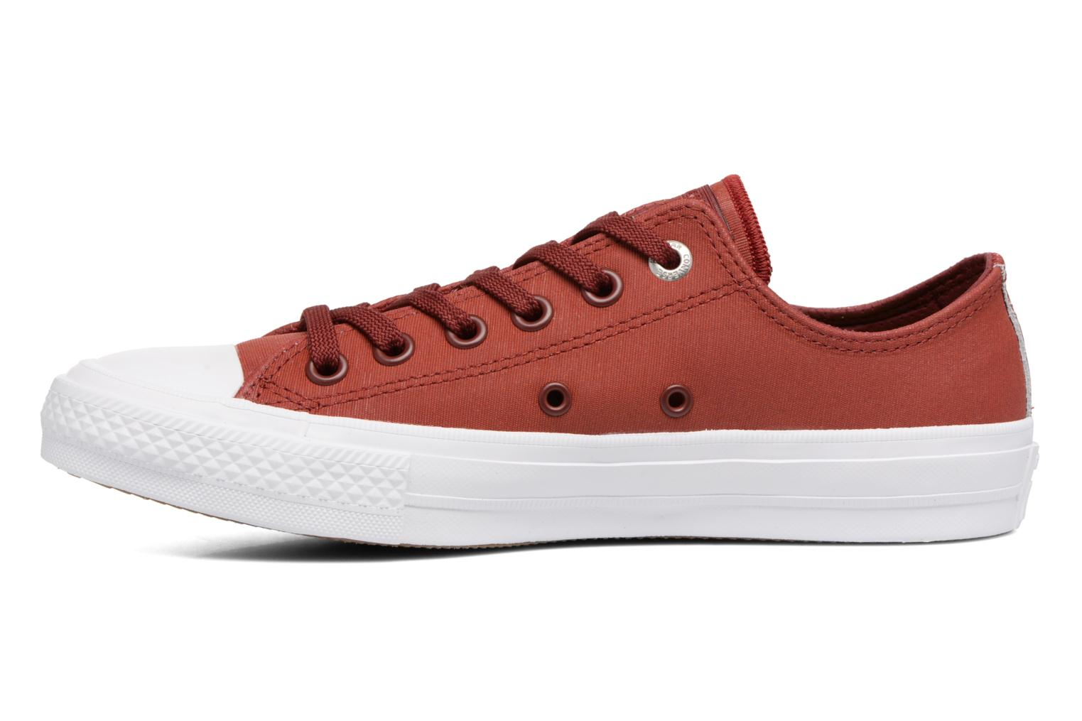 Baskets Converse Chuck II Two-Tone Leather Ox W Rouge vue face