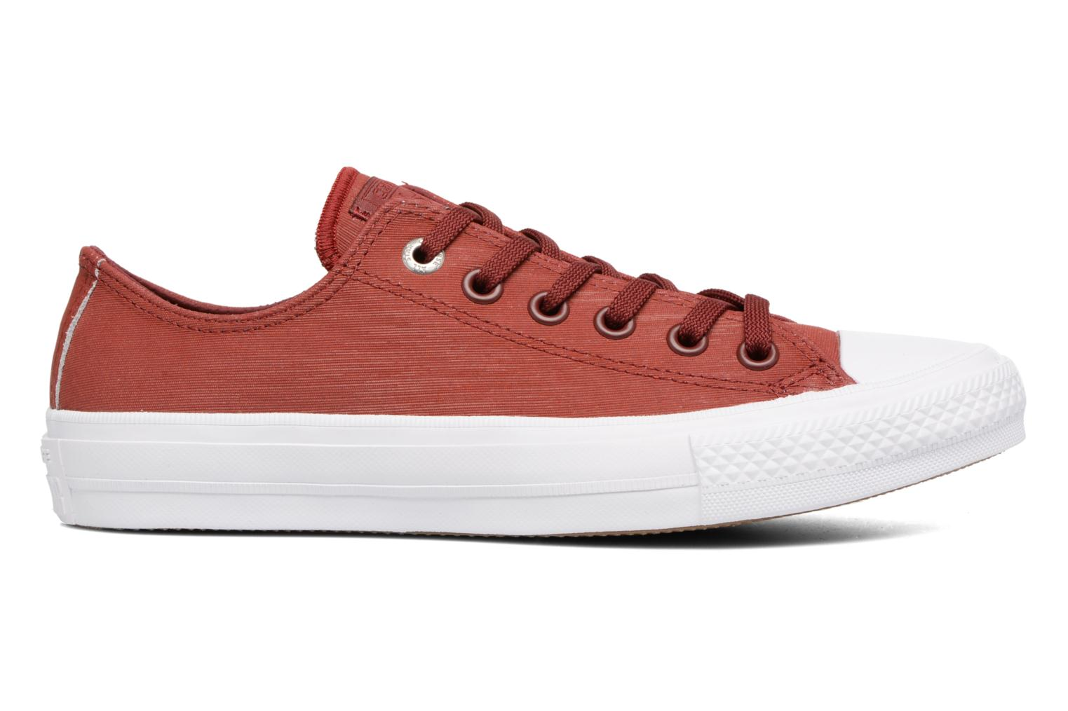 Baskets Converse Chuck II Two-Tone Leather Ox W Rouge vue derrière