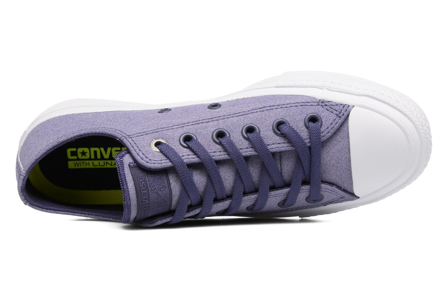 Baskets Converse Chuck II Two-Tone Leather Ox W Violet vue gauche