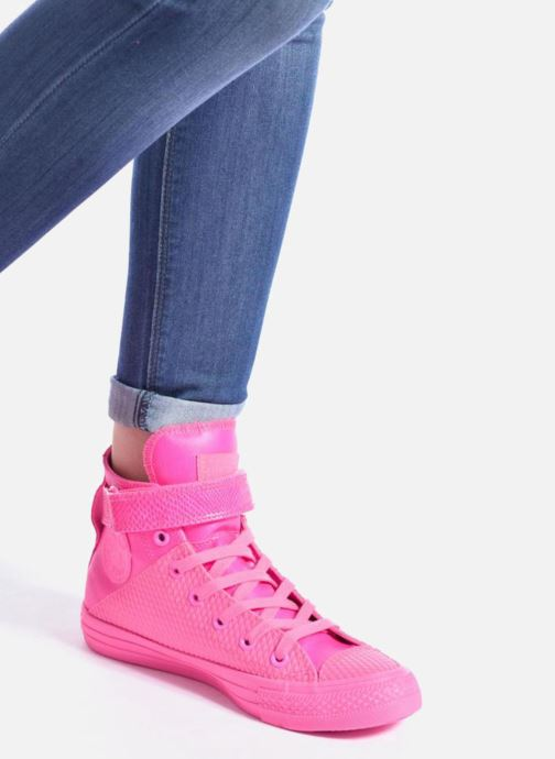 Trainers Converse Chuck Taylor All Star Brea Hi W Pink view from underneath / model view