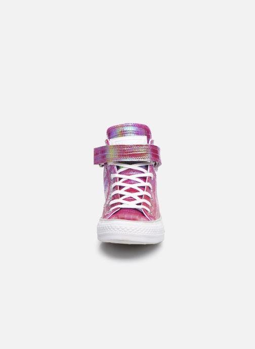 Baskets Converse Chuck Taylor All Star Brea Hi W Rose vue portées chaussures