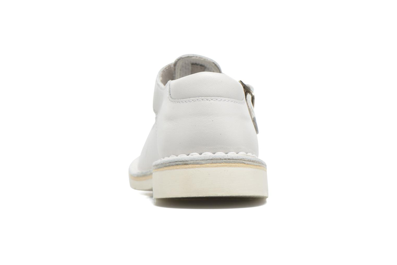 Ballet pumps GBB Knepa White view from the right