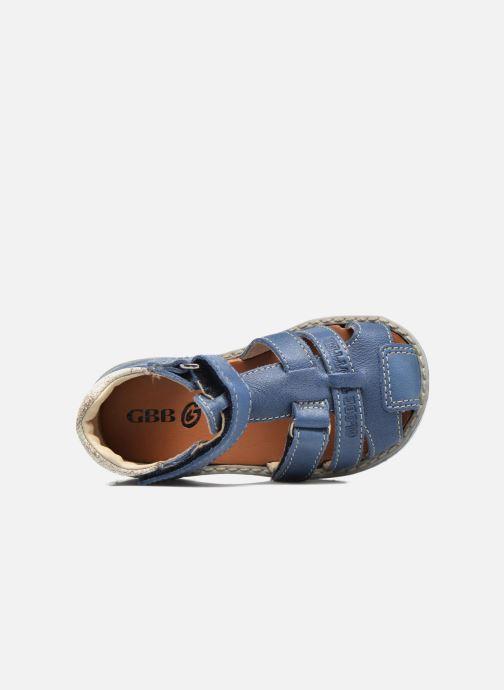 Sandales et nu-pieds GBB Mathurin Bleu vue gauche