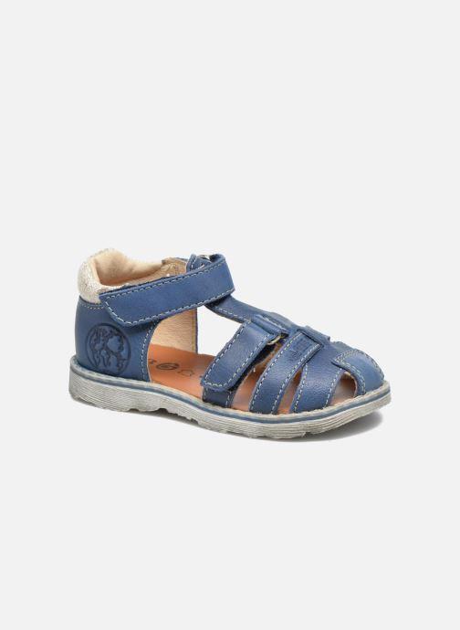 Sandaler GBB Mathurin Blå detaljeret billede af skoene