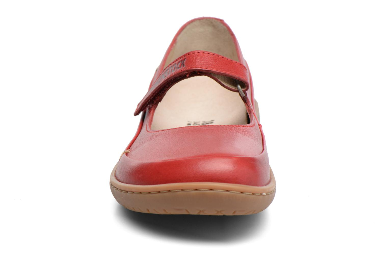 Ballerines Birkenstock Iona Rouge vue portées chaussures