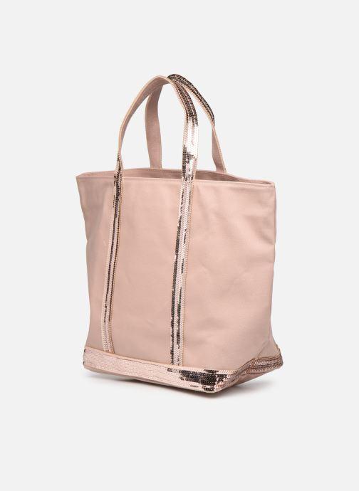 Handtaschen Vanessa Bruno Cabas M rosa ansicht von rechts