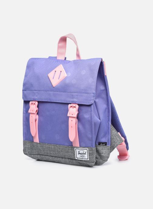 Schulzubehör Herschel Survey Kids lila schuhe getragen
