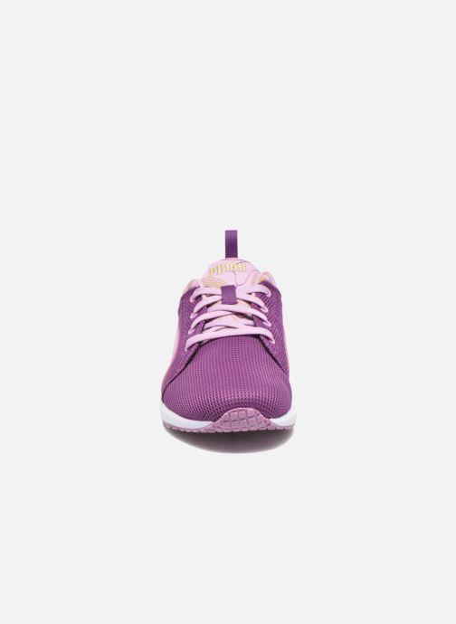 Baskets Puma Carson Marble Violet vue portées chaussures