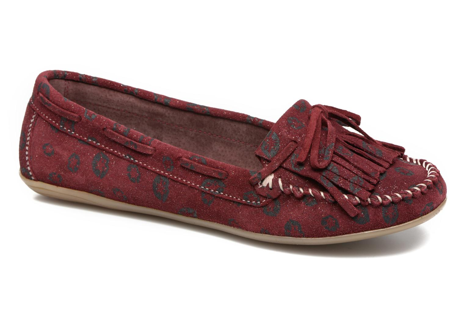 Loafers Ippon Vintage Moc Kiss Burgundy detailed view/ Pair view