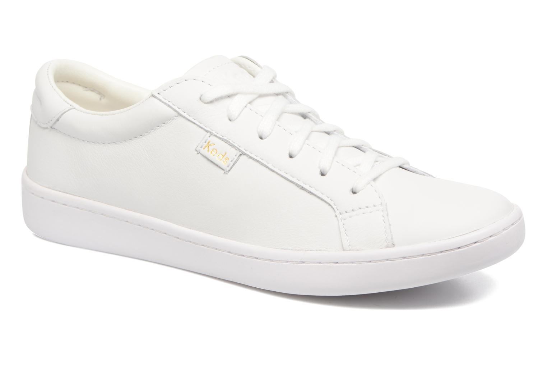 Baskets Keds Ace Leather Blanc vue détail/paire